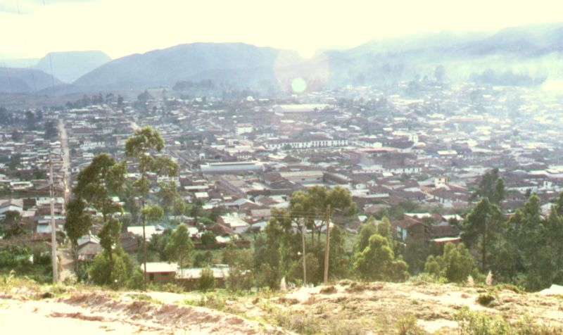 Chachapoyas Peru - view over the city 68kb
